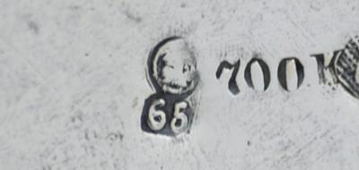 Znaki na srebrach, litera datująca, Wrocław